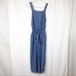 Old navy blue chambray denim jumpsuit